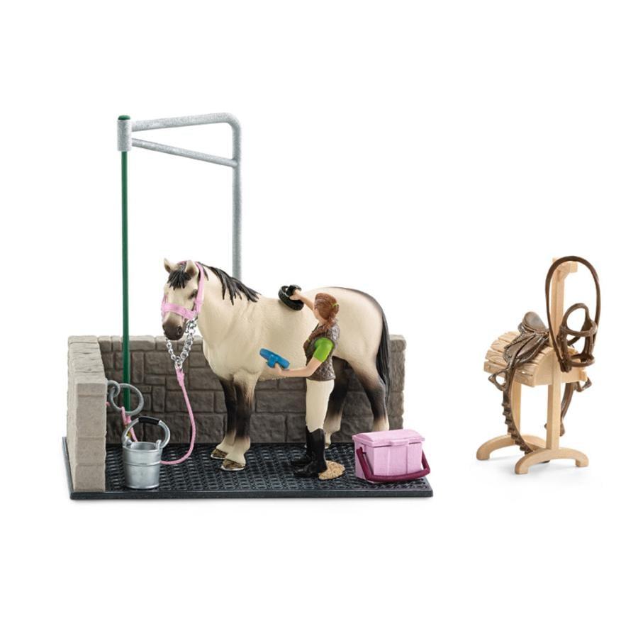 SCHLEICH Paarden wasbox 42104  pinkorbluebe