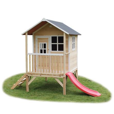 maison cabane de jardin enfant avec tobogg