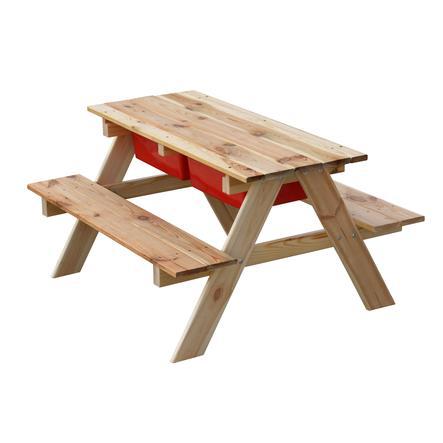 table enfant jeux d eau sable bois 89x79x4