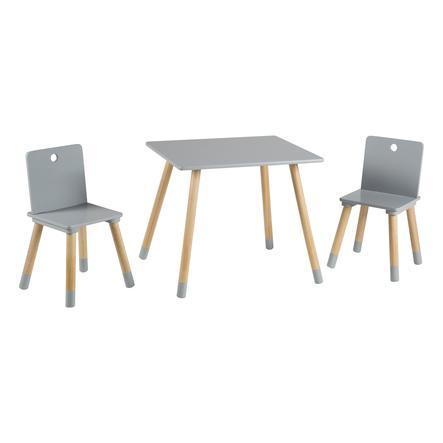 ensemble table et chaise enfant bois gris