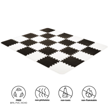 tapis puzzle enfant luno mousse noir