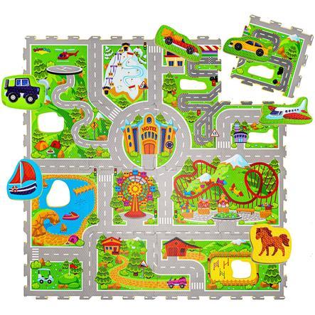matte tapis puzzle enfant voyages 120x12