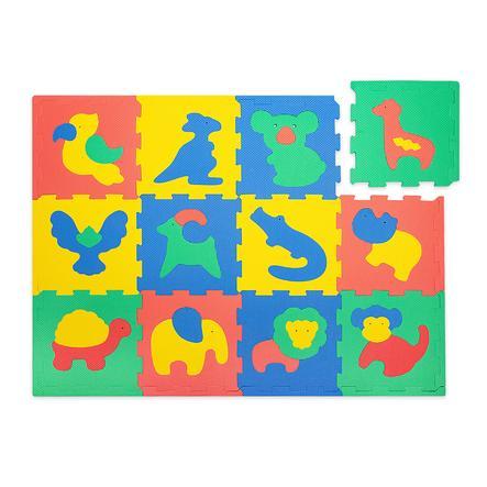 matte tapis puzzle enfant safari des ani