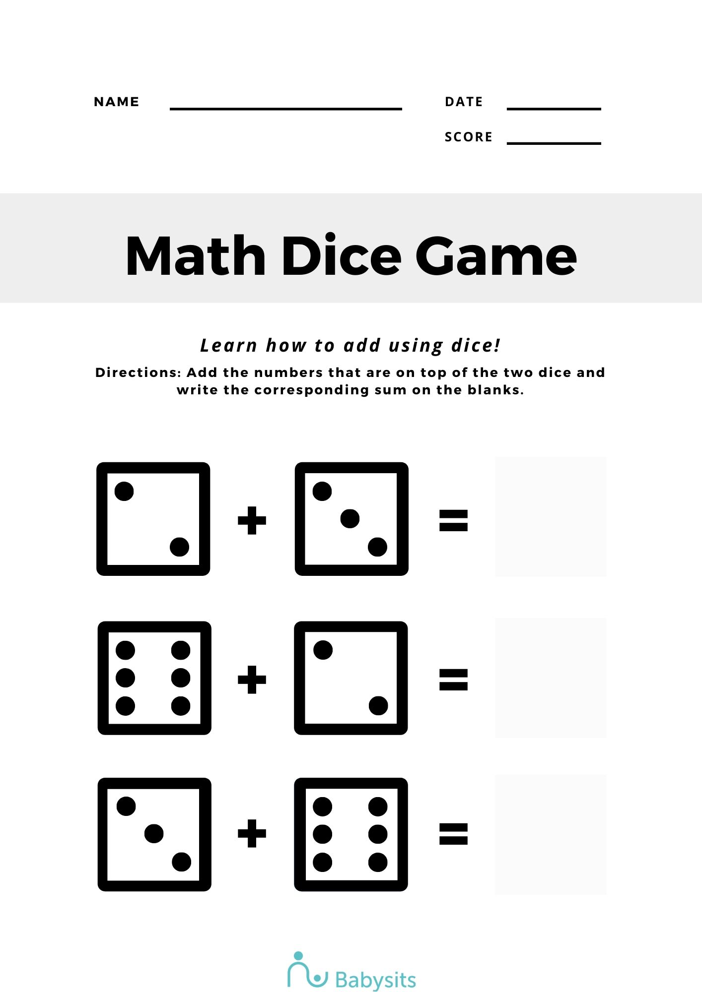4 Free Printable Online Maths Worksheets