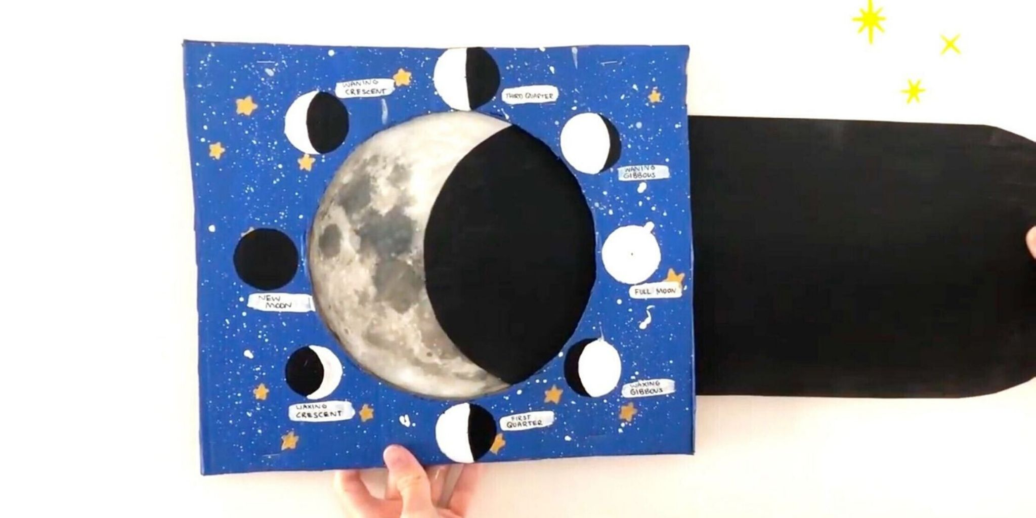 Phases Of The Moon Space Crafts For Kids With Moon Phases
