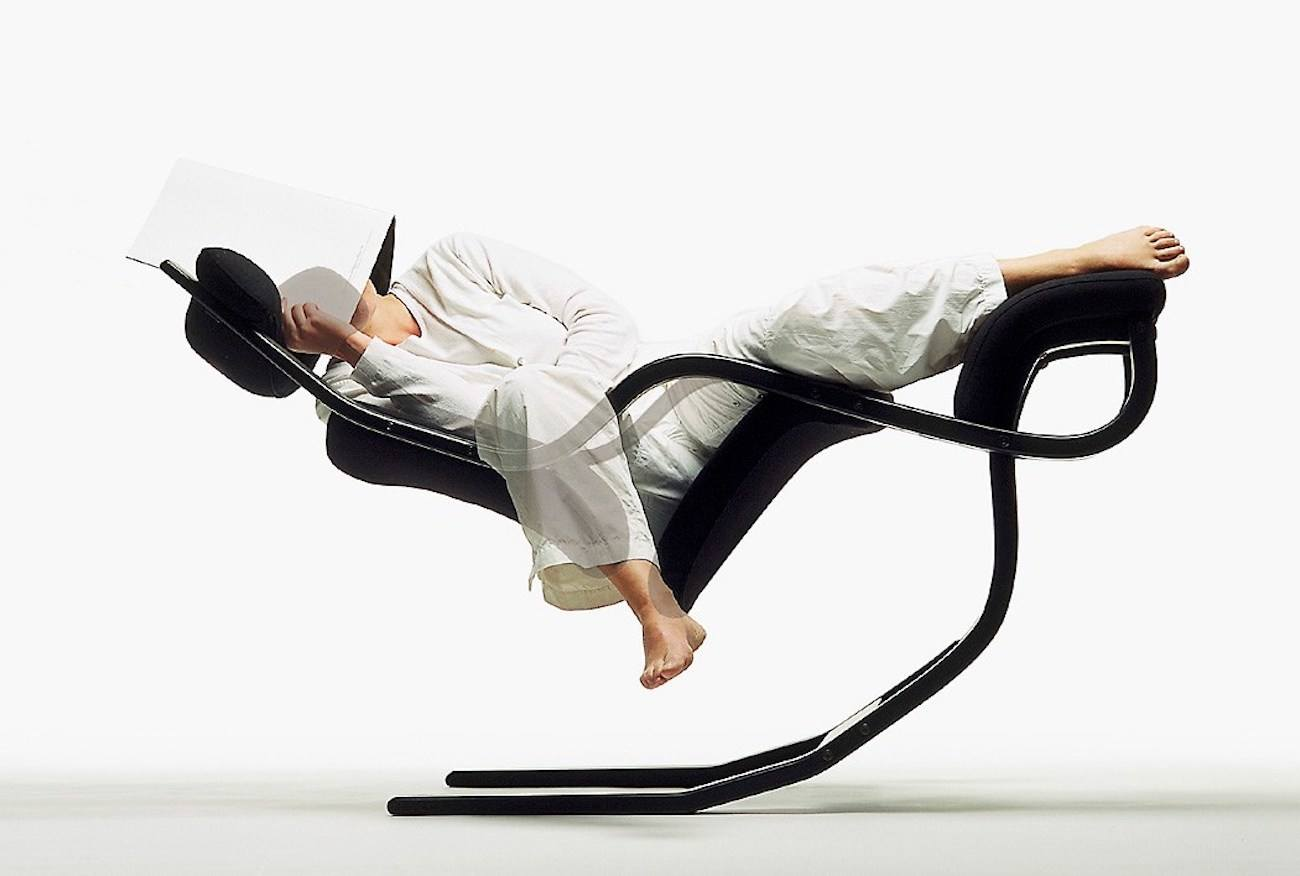 posture chair varier carbon fiber gravity back in action