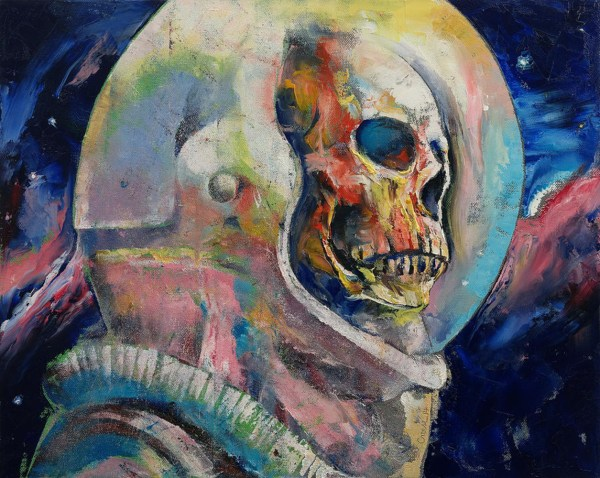 Trippy Astronaut Painting