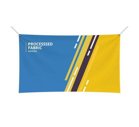 processed fabric banners