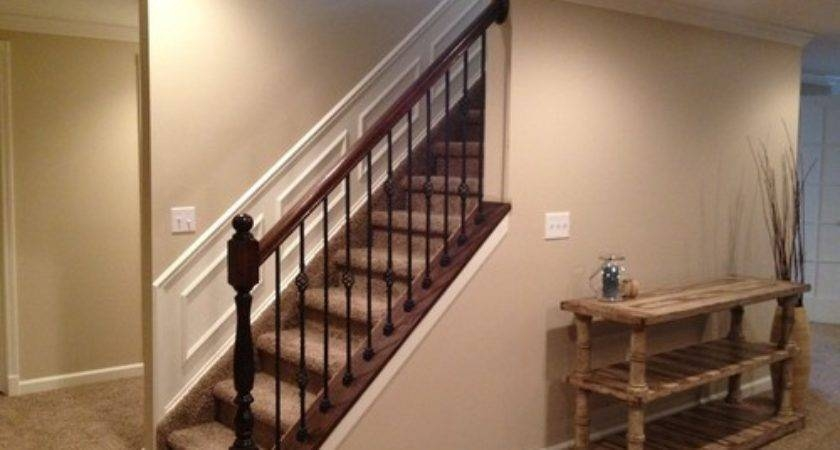 Cool Home Depot Stair Railing Stain Color Barb Homes | Indoor Railings Home Depot | Wrought Iron | Barn Post Custom | Balusters | Wood Stair | Unique