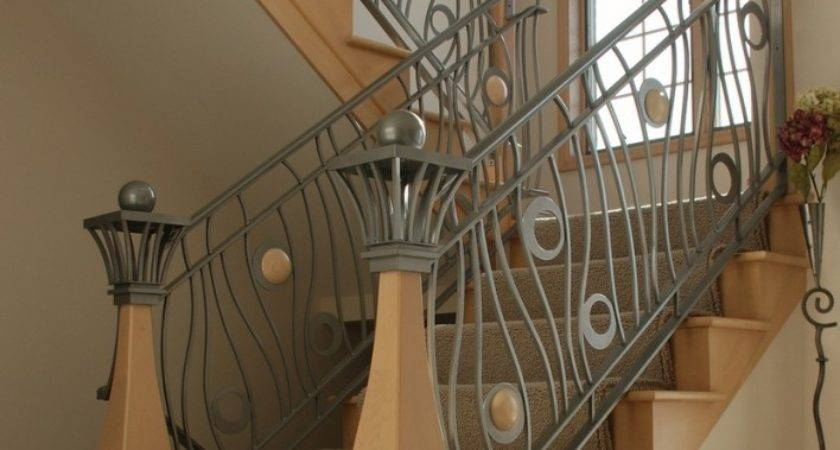 21 Inspiring Iron Staircase Railing Designs Photo Barb Homes | Interior Iron Stair Railing | Minimalist Simple Stair | Fancy | Staircase | Residential | Stair Outside