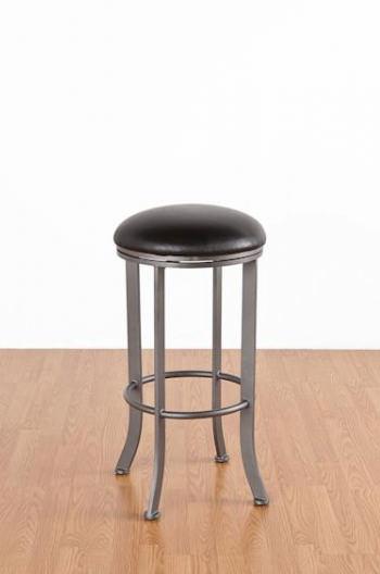 vintage vanity chair swivel designer callee - chrysler backless bar stool 26