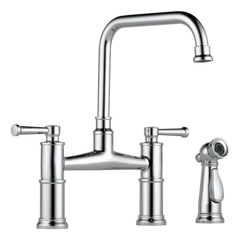 brizo kitchen faucet retro light fixtures buy artesso deck mounted in chrome 62525lf pc sale