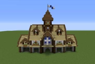 minecraft town hall medieval modern grabcraft blueprints enlarge