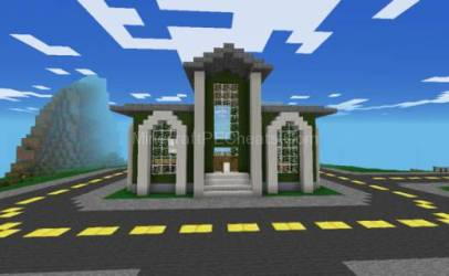 minecraft hall town modern keywords related enlarge