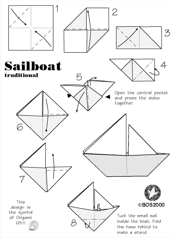 DIY Waterproof Origami Sailboat for Nautical Baby Showers