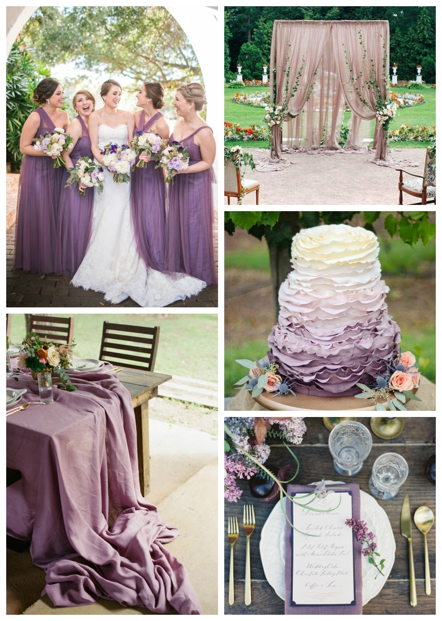 Wedding Color of the Month Shades of Purple Beaucoup Blog