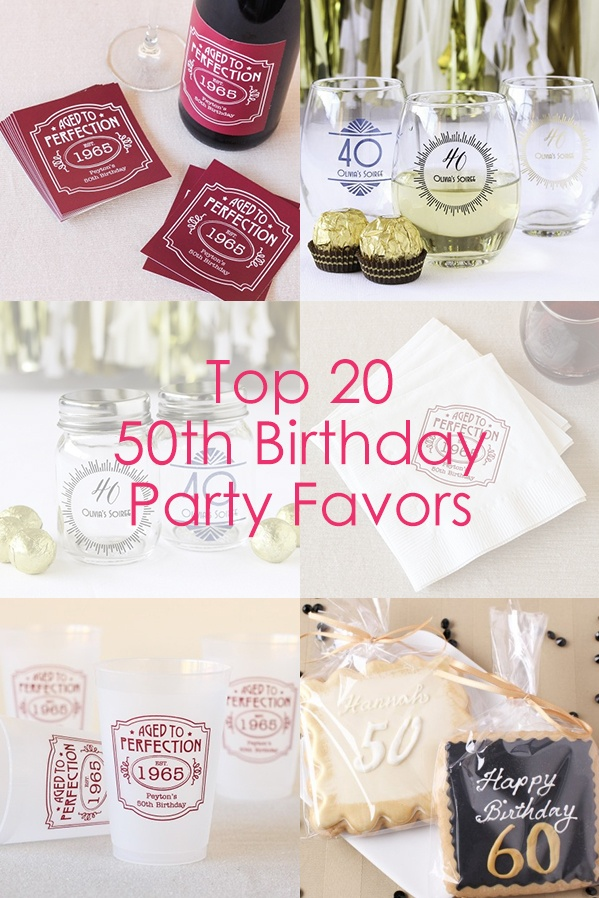 Top 20 50th Birthday Party Favors  Beaucoup