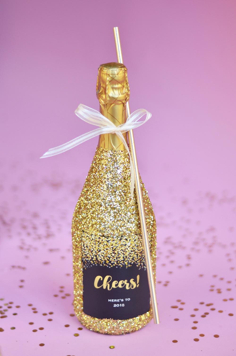 How to Make Giant Glitter Champagne Bottles  Giant Bottle