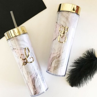 Personalized Marble Tumbler