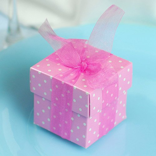 Polka Dot Favor Boxes Polka Dot Baby Shower Favor Boxes
