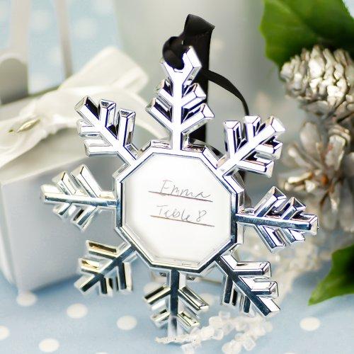 snowflake ornaments wedding favors