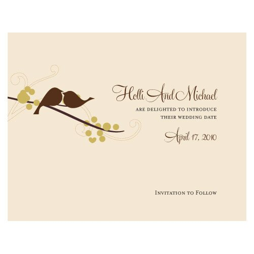Save Date Cards Fall Wedding