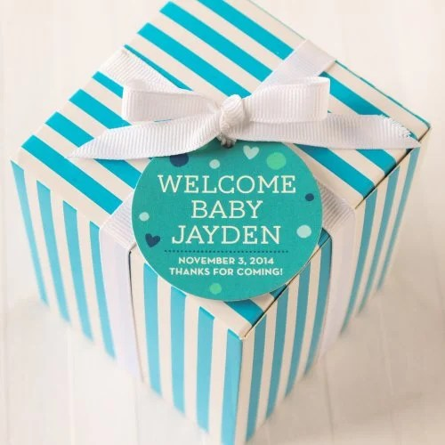 personalized round baby shower