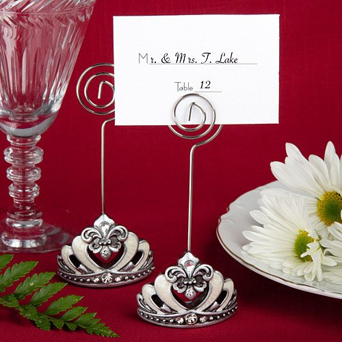 Bejeweled Crown Place Card Holder