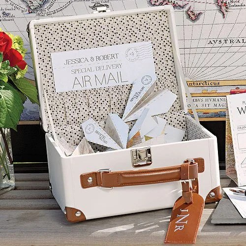 Paper Airplane Wishing Well Notes with Mini Suitcase