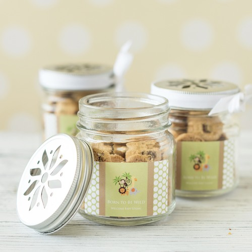 Mason Jars With Flower Lids