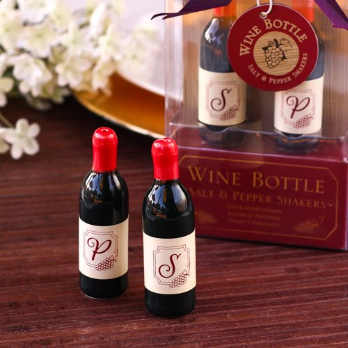 Wine Salt And Pepper Shakers Wine Bottle Shaped Salt And