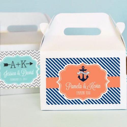 Personalized Bridal Mini Gable Favor Boxes Bridal Shower