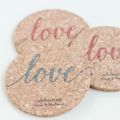 Personalized Coasters, Custom Cork Coasters, Cork