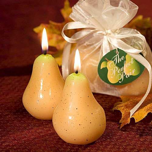 Perfect Pair Pear Candles Wedding Favors