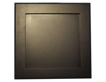 black wood trivet frame holds 6 tiles in stock now