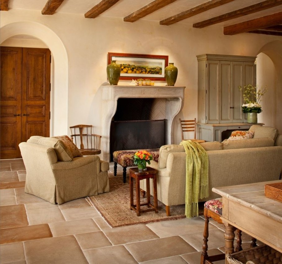 Mediterranean Style Living Room Design