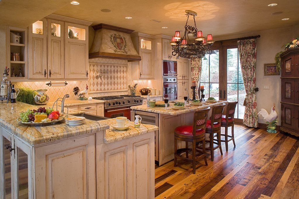best countertops for kitchen spice racks english-styled kitchen: special aspects of decoration