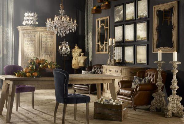 antique design living room Vintage Style interior design ideas