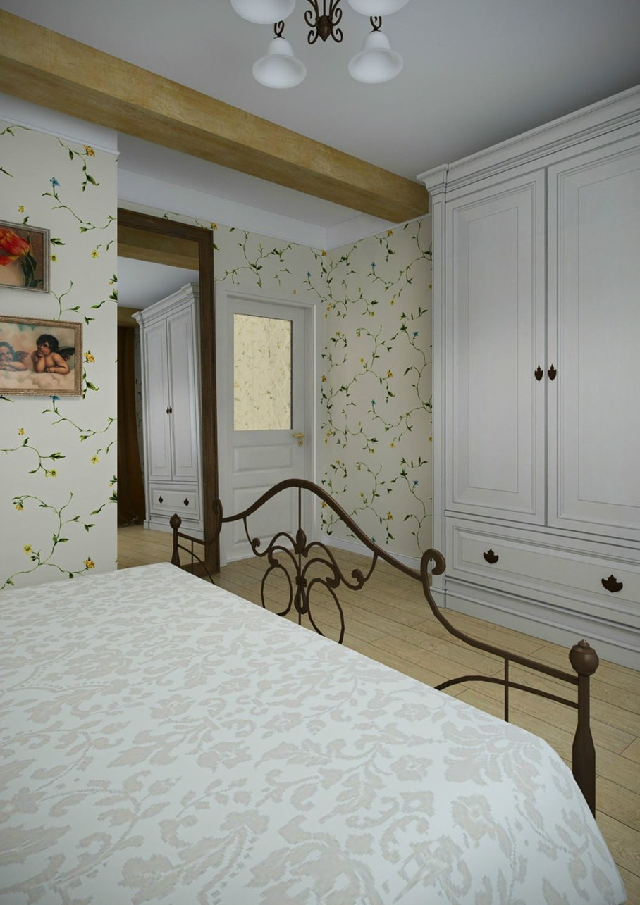 Apartment interior design in the Provence style