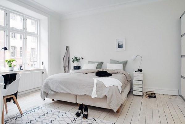 scandinavian bedroom design grey Bedroom design in Scandinavian style