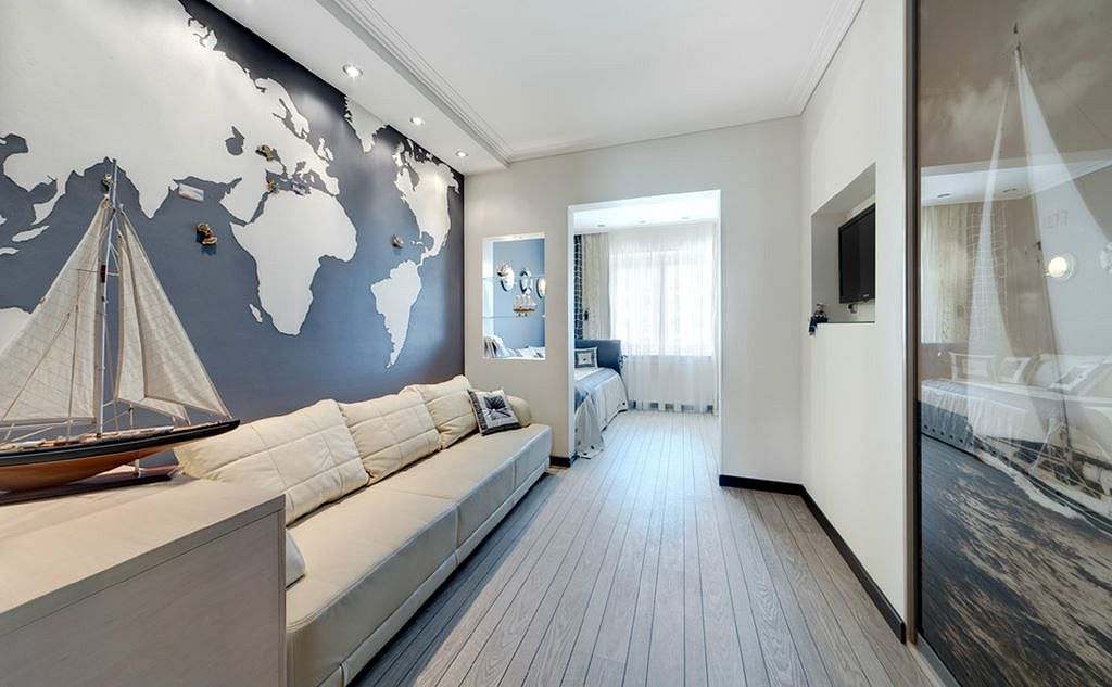 decorate a small living room apartment best paint colors for and kitchen how to make design of in marine style boys