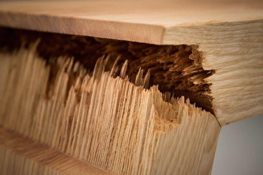Broken Spectacular Furniture Made of Cracked wood