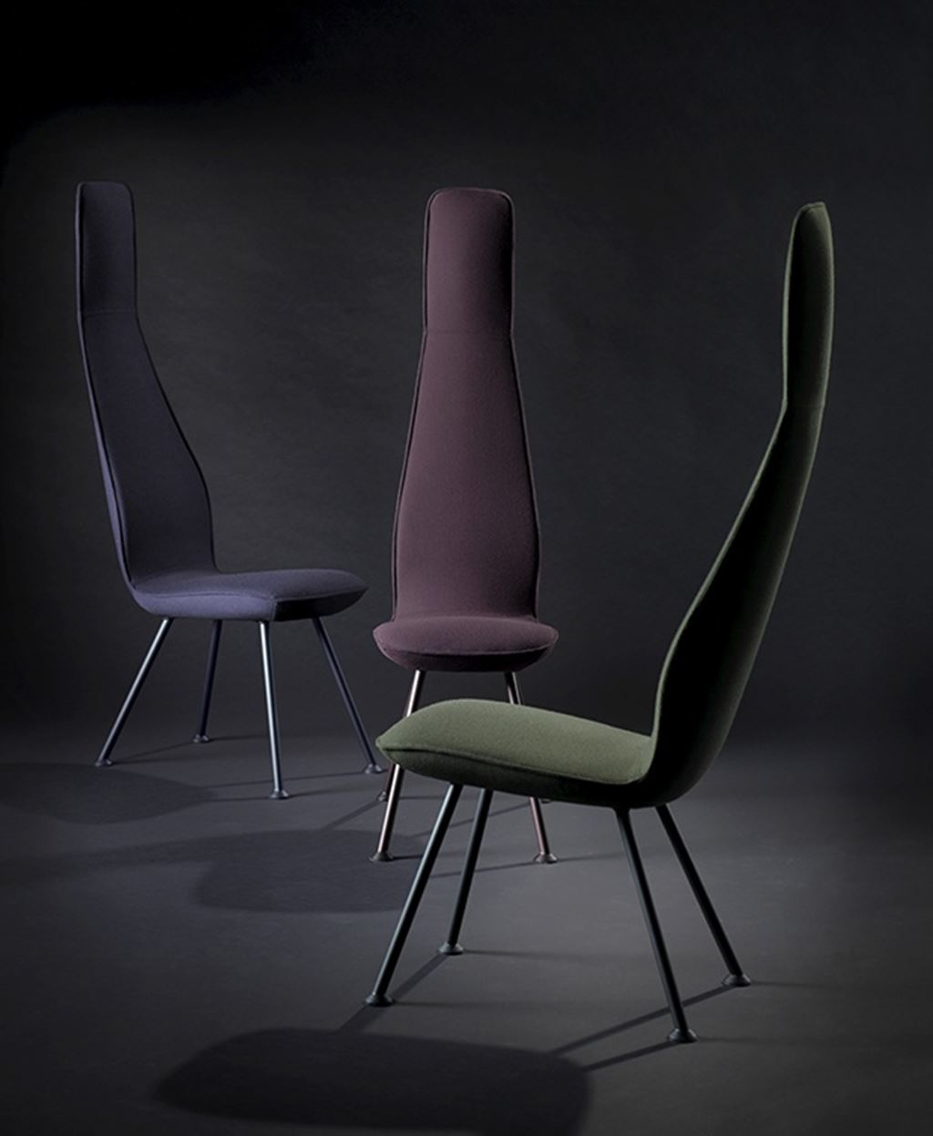 Poppe chair is very narrow with a high chair back