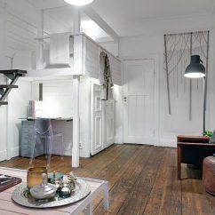 Arrange Living Room Furniture Small Apartment Speakers The Delightful Design Of Studio Flat Scandinavian Style