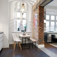 Kitchen Table With Storage Underneath Sink Refinishing Porcelain The Delightful Design Of Studio Flat Scandinavian Style
