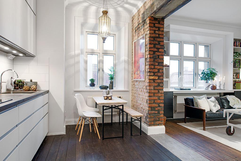 arrange living room furniture with red sofa the delightful design of studio flat scandinavian style