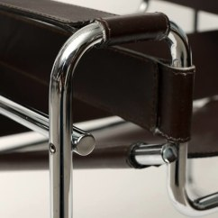 Wassily Chair Brown Leather Ergonomic For Tall Person Fabulous Arm Designed By Marcel Breuer Knoll Original