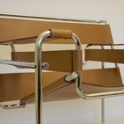 Wassily Chair Brown Leather Barber Shop Waiting Chairs Fabulous Arm Designed By Marcel Breuer Knoll Vintage