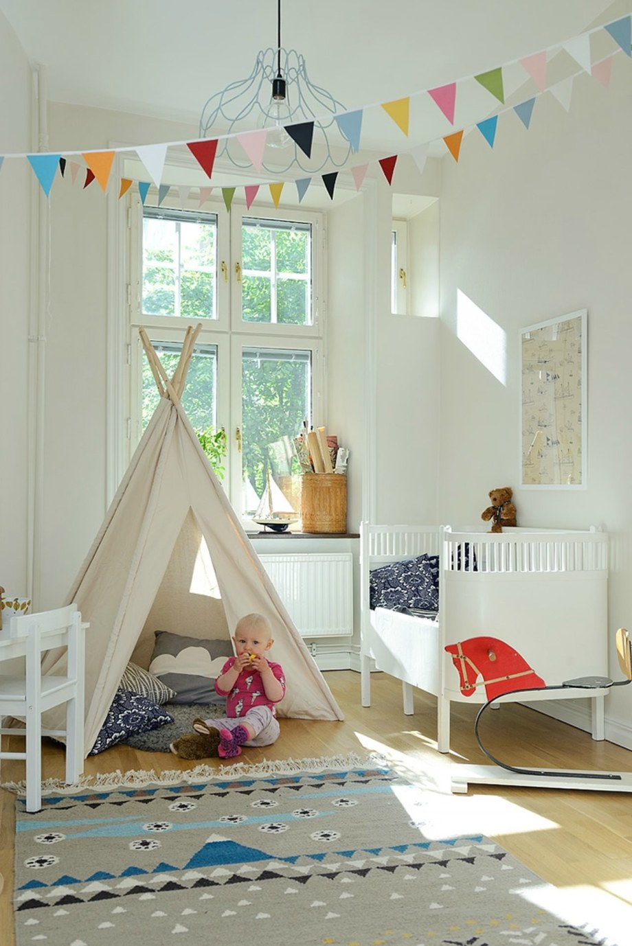 ScandinavianStyled Childrens Room