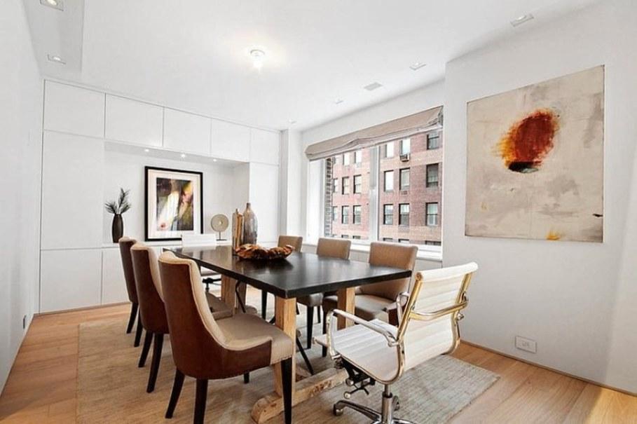 outside kitchen ideas chromcraft chairs modern interior design of a duplex apartment in new york